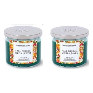 2 Fall Breeze and Crisp Leaves 3 Wick Soy candles